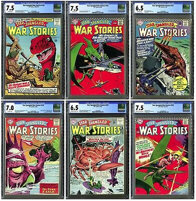 Six Star-Spangled War Stories #107,120,124,127,128,129 (DC 1963) All CGC cased!!