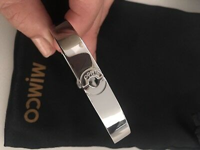 Mimco Silver Hinged Bangle Bracelet - As New