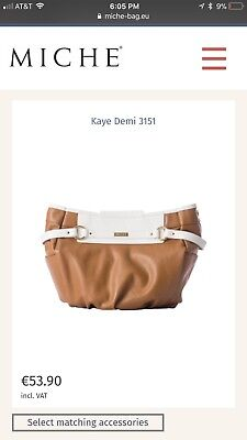 Authentic MICHE ~NWT~Kaye DEMI Shell~brownW/white in color~with gold accents