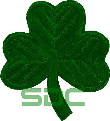 LUCKY IRISH GREEN CLOVER Embroidered PATCH SHAMROCK Iron-on