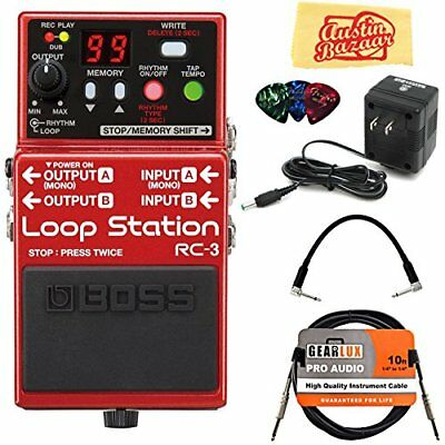 Boss RC-3 Loop Station Electric Guitar Pedal Rock Effects Foot Switch Step Board