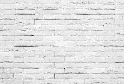 7x5ft White Brick Wall Photography Background Studio Photo Props Vinyl Backdrop
