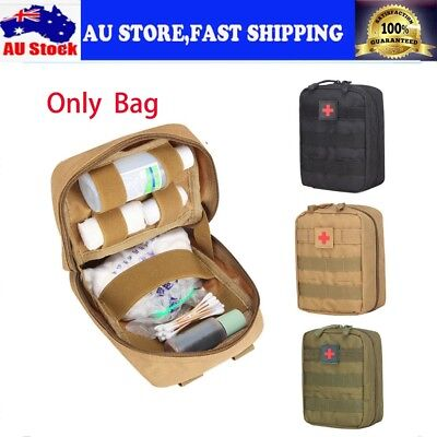 Tactical   First Aid Kit Bag Emergency Medical Travel Survival Rescue AU