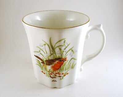 Vintage Royal Grafton Fine Bone China Tea/Coffee Cup Mug Robin