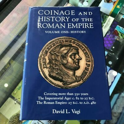 1999 Coinage and History of the Roman Empire Vol.1 Signed by Author David Vagi
