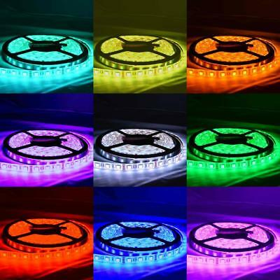 Waterproof RGB 12V 5M 5050 SMD 300 Leds LED Strip Lights Car Boat Caravan+Remote