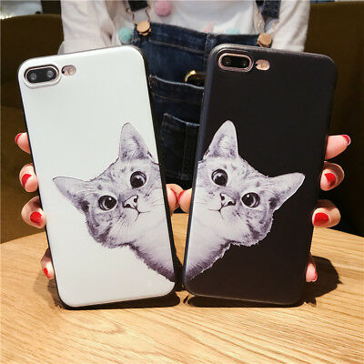 43f2fd94e9 For iPhone 8 7 6 6S Plus Cartoon Cat Print Phone Case Soft TPU Phone Cases