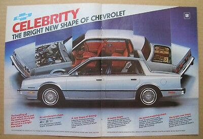 1982 Chevrolet Celebrity 2-pages Centerfold Color AD