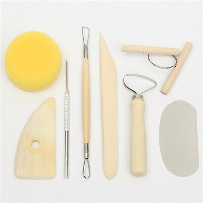 8Pcs Pottery Tool Set Clay Ceramics Molding Tools Needle Cutter Loop Ribbon Kit