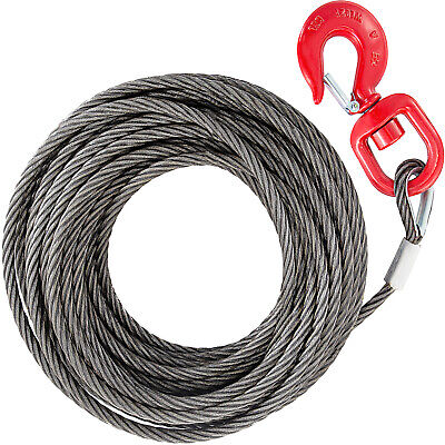 Galvanised Steel Winch Cable, Wire Rope 10mm x 30m, upto 4400lbs, Replacement