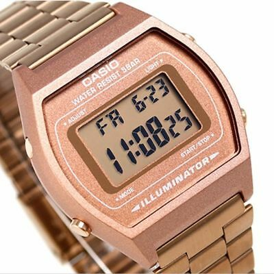 Casio Unisex Rose Gold Stainless Steel Digital Light Alarm Watch B640Wc-5Aef