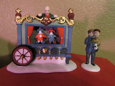 Dept 56 heritage  Village The Old Puppeteer Puppet Man partial set