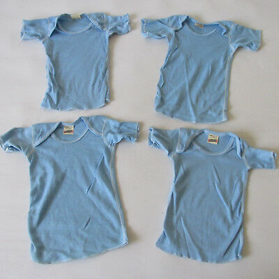 Vintage 80s 4 Deadstock Junior Screen Stars Blue Blank Baby T-Shirt 18M & 24M