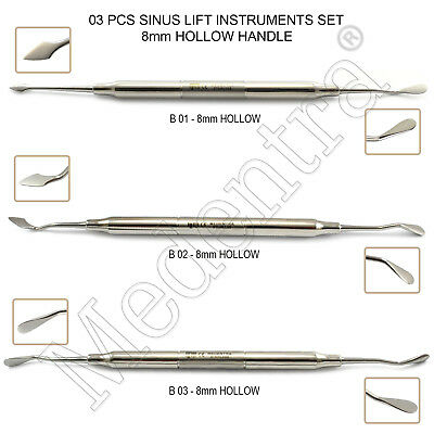 3Pcs Dental Surgery Implant Sinus Lift Instruments Scalers Curettes Implantology