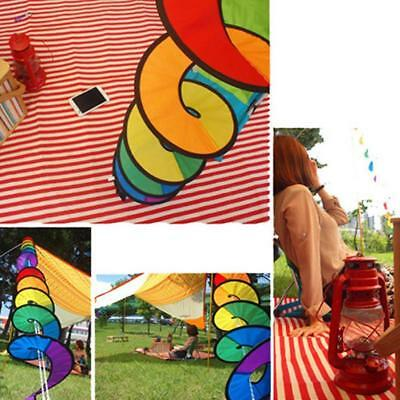 Foldable Rainbow Spiral Windmill Wind Spinner Camping Tent Home Garden 2018