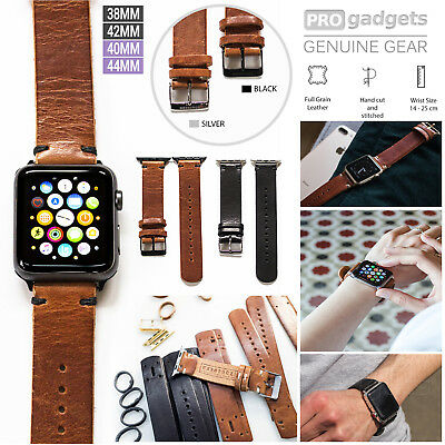 Genuine Leather Apple Watch Band,Southern Straps Wrist Strap for Series 4/3/2/1