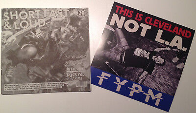 """TO THE POINT / F*CK YOU PAY ME spl 7"""" + Short, Fast & Loud Mag # 29 spazz,nasum"""