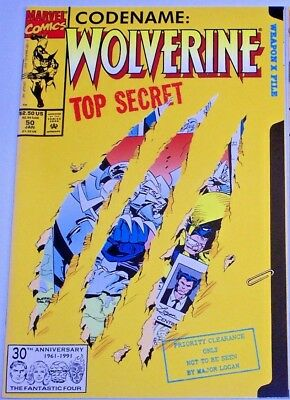 WOLVERINE #50 (NM) Cool Die-Cut Cover! 1991 Giant-Size 64 Pages! High Grade!