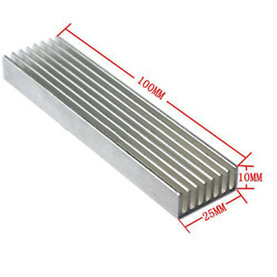 Cooler Aluminium Cooling Heatsink Chip 100x25x10mm for LED Power Transistor BDP