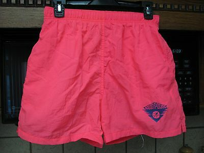 Ocean Pacific OP men's hot pink day glo fluorescent beach shorts 1991 vintage
