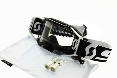 Brille Scott Prospect WFS Roll Off Black Motocross Enduro 50mm Abrollfilm NEU