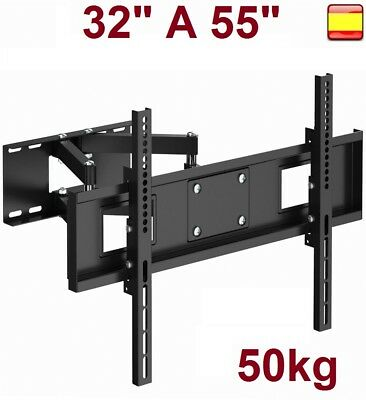"Soporte de pared para TV LCD LED 4K SMART 32"" A 55"".giratorio inclinable"