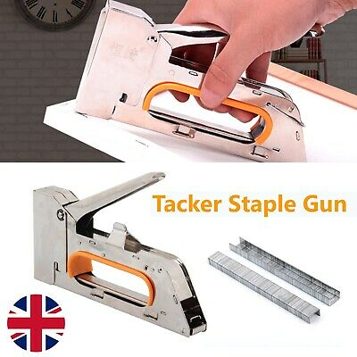 Heavy Duty Nailer Tacker 4/6/8mm Staple Gun Upholstery Stapler 2500 Staples UK