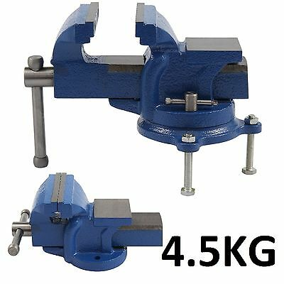 "Heavy Duty 4"" 100Mm Engineer Vice Workshop Jaw Clamp Work Bench Vise Swivel Base"