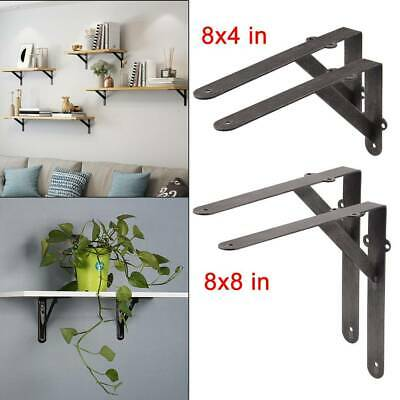 Pair Shelf / Wall Bracket Gallows Industrial Style Cast Antique Iron 8X4 /8X8 UK