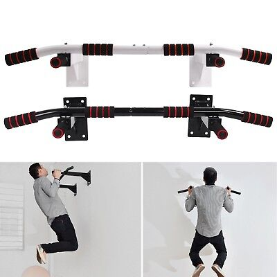 Wall Mounted bar chin Up Pull Up Bar Iron Gym Bracket Exercise Workout Steel