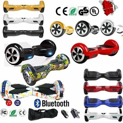 "6.5"" Bluetooth Patinete Electrico Hoverboard Scooter Skate Board Mando + Bolso"