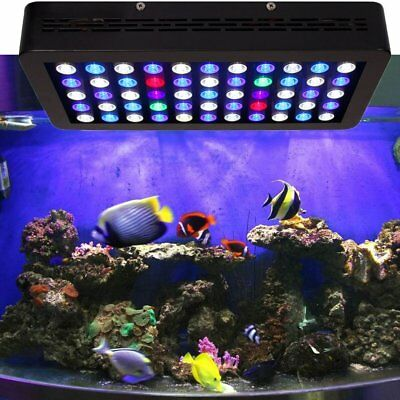 165W 55LED Full Spectrum Dimmable Coral Plant Grow Fish Aquarium Tank Light MX