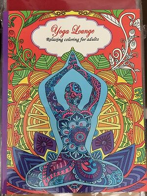 New - Colouring Book For Adults - Yoga Lounge - Great Fun