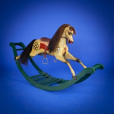 Antique Bow Rocking Horse Circa 1860 - Can Deliver Or Ship Worldwide - Toy Horse
