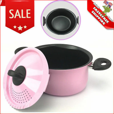 5 Qt Aluminum Pasta Pot with Patented Built in Strainer with Strain & Drain Lid