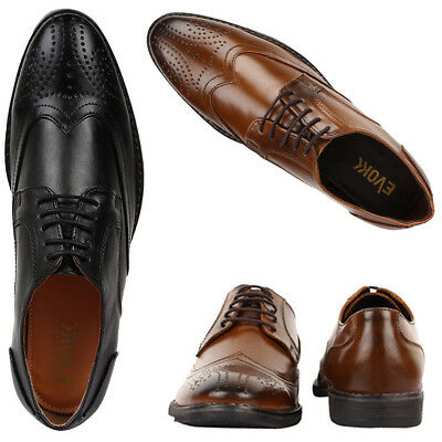 New Men's BROGUE Style Shoes Formal Smart Casual Italian office Leather ( 004)