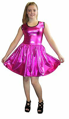 METALLIZZATO LUCIDO PVC NERO ROSA GREASE effetto lucido ROCKABILLY