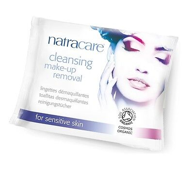NATRACARE CLEANSING MAKE-UP REMOVAL WIPES - Organic & Biodegradable