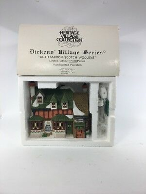 Dept.56Dickens Village Ruth Marion Scotch Woolens Limited Edition #17365 MIB
