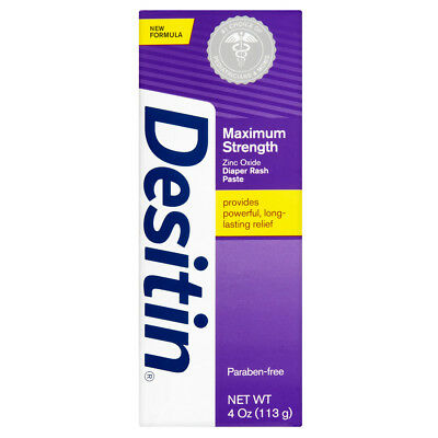 Desitin Maximum Strength Original Diaper Rash Paste Lasting Relief 4 oz 113g