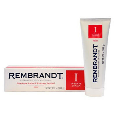 Rembrandt Intense Stain Fluoride Whitening Toothpaste - Mint Flavour