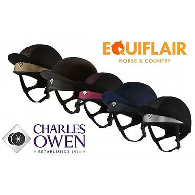 Charles Owen Pro II Plus Skull Riding Helmet - FREE HAT BAG