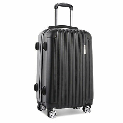"24"" Luggage Suitcase Trolley Set TSA Travel Carry On Bag Hard Case Lightweight"