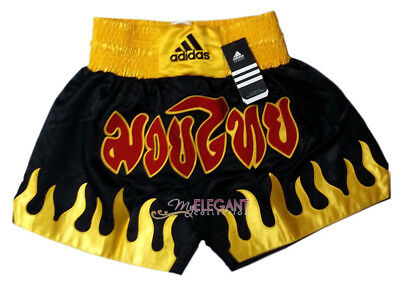 Adidas Performance Men's Thai Boxing Shorts Pants ADISTH03 Black Adult Size M L