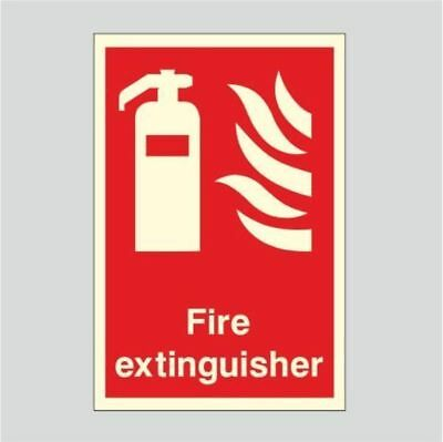 Fire Extinguisher Photoluminescent Sign 150X200mm Bulk Prices