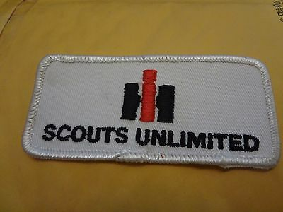 """international harvester SCOUTS UNLIMITED ,patch,3 3/4""""x 1 3/4."""", new old stock"""