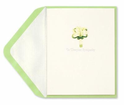 Papyrus  Lilies with Glitter Sympathy Card