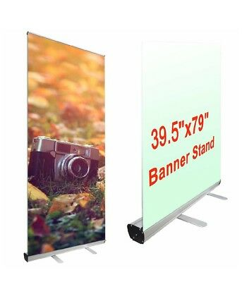 "Yescom Aluminum Trade Show Retractable Roll Up Portable Banner Stand 39.5"" x 79"""