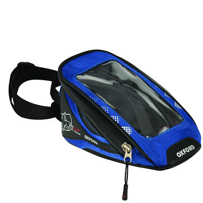 Oxford M1R Motorcycle Micro Magnetic Tank Bag 1L Lifetime Luggage Blue OL353 T
