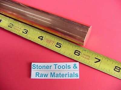 """1"""" C110 COPPER ROUND ROD 6"""" long H04 Solid 1.00"""" OD CU New Lathe Bar Stock"""